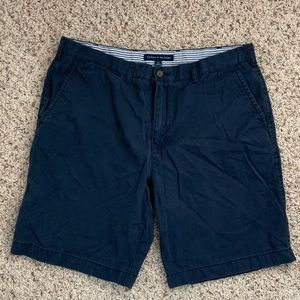 Men's blue khaki shorts